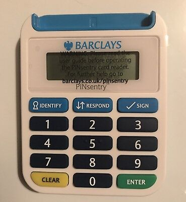 BARCLAYS Pinsentry Security Online Banking Pin Sentry Bank Card Chip Reader NEW