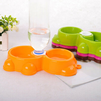 Pet Automatic Water Dispenser Food Dog Cat Food Dish Bowl Feeder Feeding Durable
