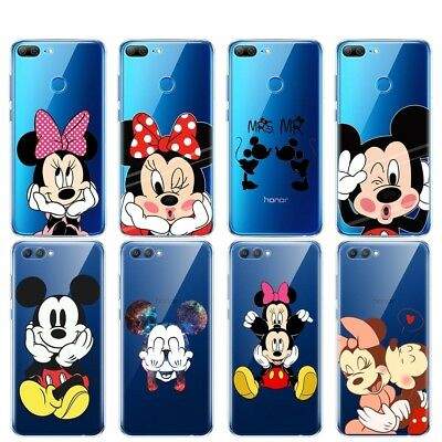 Disney Minnie Mickey Cartoon Soft TPU Cover Case For Huawei Honor 6A 8 9 Lite 6X