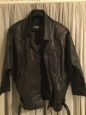 Ladies Vintage Genuine Soft Leather Jacket 1980's excellent condition