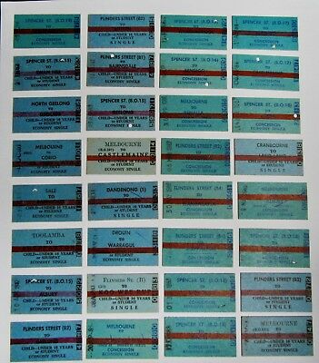 Victorian Railways ..68 Original Country Issued.. Tickets  All Different Set 3