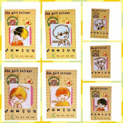 Kpop BTS Bangtan Boys Cartoon Anti-radiation Sticker for Mobile Phone Laptop Cup
