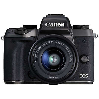 Canon Eos M5 24.2Mp Compact System Camera 15-45Mm Is Stm Lens Kit