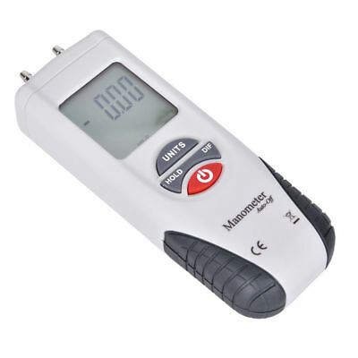 LCD Digital Manometer Air Pressure Meter Differential Gauge Hvac Gas Tester Test