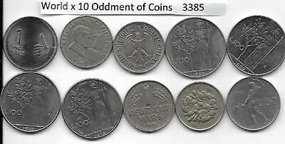 WORLD x 10 Mixed Oddments Coins