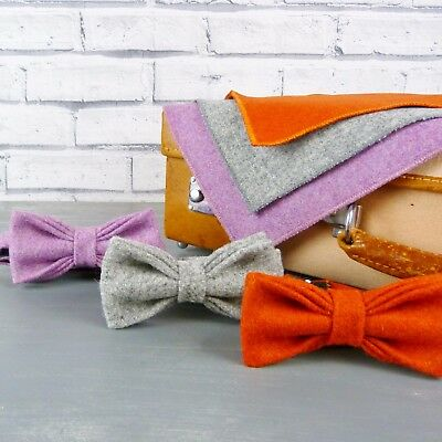 Yorkshire Wool Tweed Bow Tie and Pocket Square - Various Colours