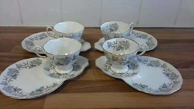 Royal Albert Silver Maple bone china tennis cup and saucer set 4 available