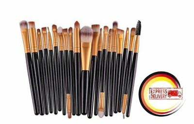 20tlg Make up Pinsel Kosmetik Pinselset Professionelle Brush Schminkpinsel Set