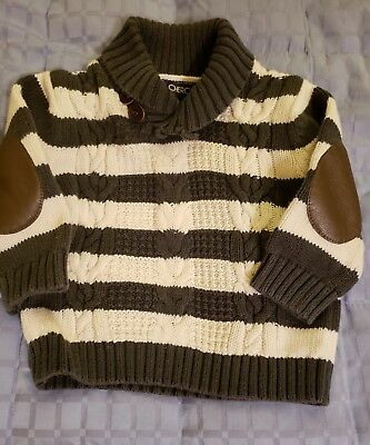 Cherokee Boys 18 Months Sweater Gray and White Striped