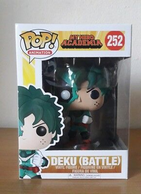 Funko Pop My Hero Academia Deku Battle 252 Animation Free pop protector Rare Toy