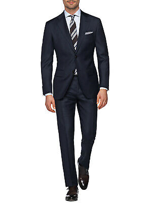 DTI GV Executive Italian Mens Two Button Wool Suit Jacket With Pant 2 Piece Set