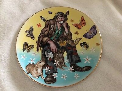 """Flambro Emmett Kelly Jr 8.5"""" Collectable Plate ~ SPRING Plate 3859 Of 10,000"""