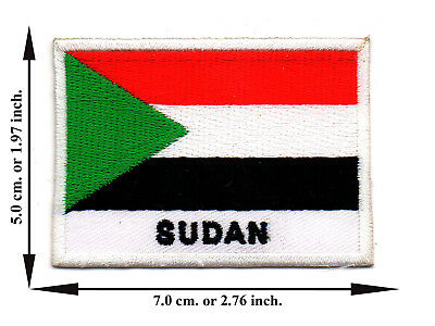 Sudan Flag Coutry Nation Sports Travel Applique Iron on Patch Sew Crafts DIY