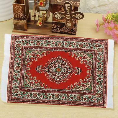 New 1:12 Miniature Woven Carpet Turkish Rug for Doll House Decoration Accessory