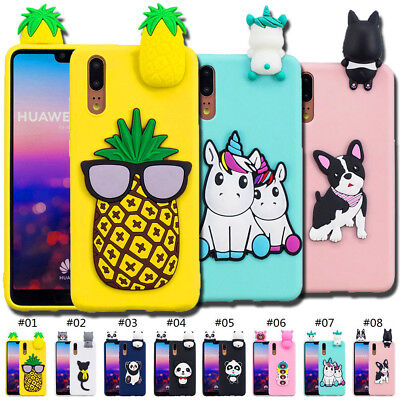 Silicone Gel Case Cover Protective Soft 3D TPU Shell Rubber Skin Back For Huawei