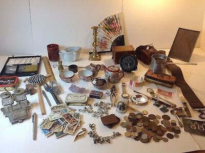 vintage/antique selection Joblot collectables, coins, pens, pipe, bits and bobs
