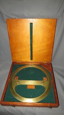 A LARGE MINISTRY EARLY 20th CENTURY BRASS PROTRACTOR