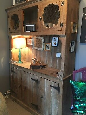 Solid Oak Country Dresser Display Unit Cupboard Very Heavy Solid Wood