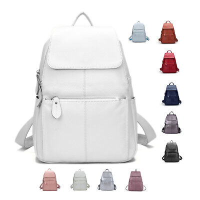 100% Genuine Leather Top Cowhide Women Female First Layer Cow Leather Backpack