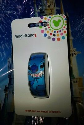 Disney STITCH BLUE Magic Band 2.0 Magicband Link It Later Parks New Lilo &