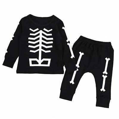 2pcs Toddler Kids Baby Boys Girls Clothes T-shirt Tops+Long Pants Outfits Set