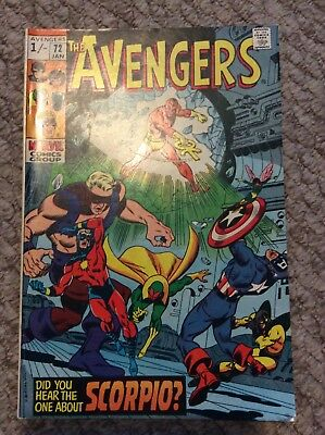 """Avengers #72_January 1970_""""did You Hear The One About Scorpio?""""!"""
