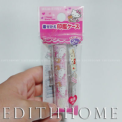Stamp Case - Hello Kitty Cat [for 6cm Long Stamp] with Stamp Pad