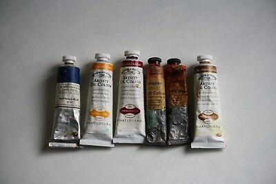 Roberson,Winsor and Newton and Rowney Artist's oils, 5 tubes