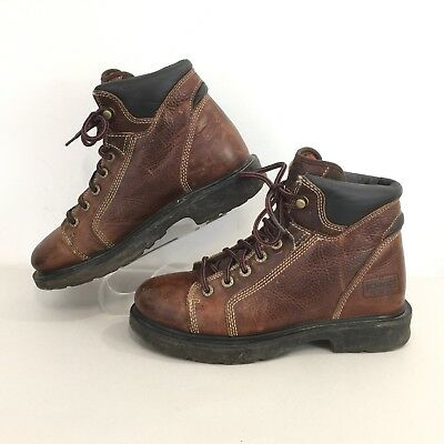 55ef418aa75 C.E. SCHMIDT BROWN Leather Work BOOTS Fit for Her Womens 6 M Lace up ...