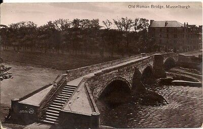 Very Nice Old Postcard - Old Roman Bridge - Musselburgh - East Lothian C.1905