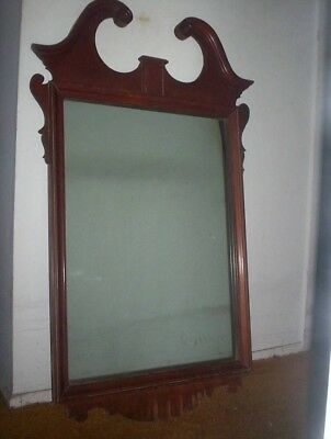 Vintage Collectible Queen Anne Wall Mirror Cherry Frame Local Nj Pick Up  Only