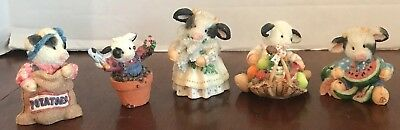 5 Mary's Moo Moos Udderly Refreshing Cow Watermelon Spring Peek A Set Figures
