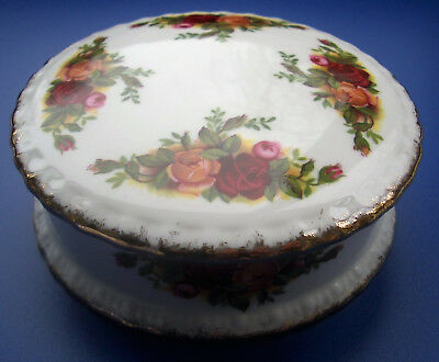 Royal Albert Old Country Roses trinket dish / box with lid, round, bone china