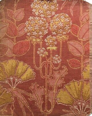 Antique English Arts & Crafts fabric sample Voysey William Morris style
