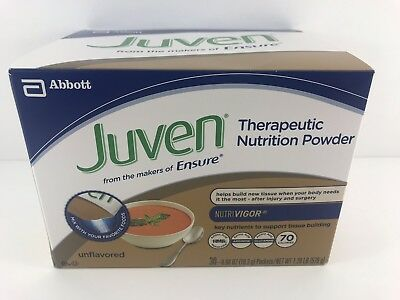 Juven Therapeutic Nutrition Powder Unflavored Drink Mix SEALED 30 Ct. Exp 03/19