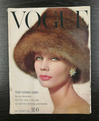 VOGUE Magazine Early October 1960