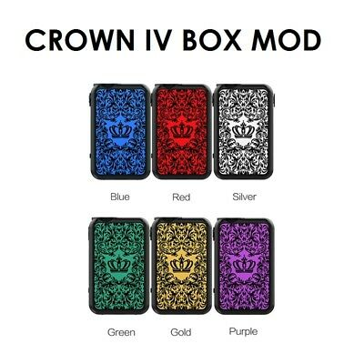 Uwell Crown IV (Crown 4) Mod Box 200W All Colours - 18650 Batteries - UK Stock