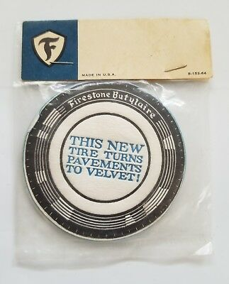 Vintage  Firestone Butylaire Tire Advertising Drink Coasters NOS