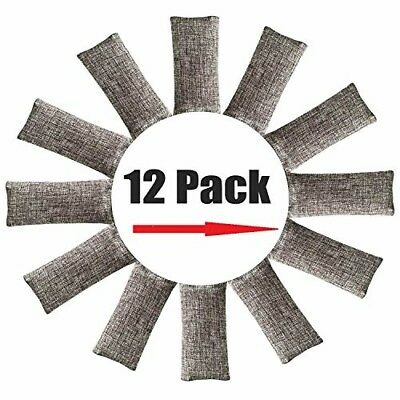 12 Pack Air Purifying Bag Nature Fresh Style Charcoal Bamboo Purifier Mold Odor