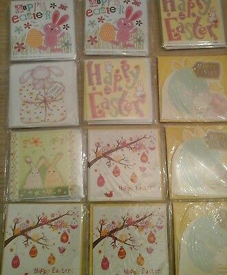 60 petite W CARDS,EASTER  WHOLESALE JOBLOT GREETING CARDS