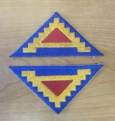 WW2 US Army 7th Army Shoulder patches x2 ...great condition!