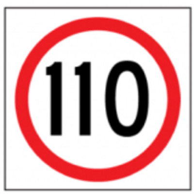 Temporary Traffic Signs -  110 IN ROUNDEL
