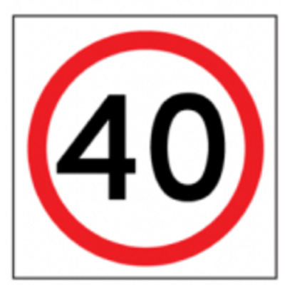 Temporary Traffic Signs -  40 IN ROUNDEL