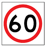 Temporary Traffic Signs -  60 IN ROUNDEL