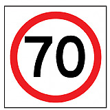 Temporary Traffic Signs -  70 IN ROUNDEL