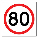 Temporary Traffic Signs -  80 IN ROUNDEL