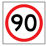 Temporary Traffic Signs -  90 IN ROUNDEL