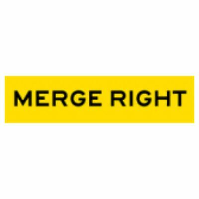 Temporary Traffic Signs -  MERGE RIGHT