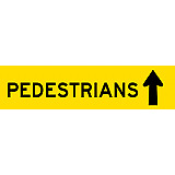 Temporary Traffic Signs -  PEDESTRIANS (ARROW UP)