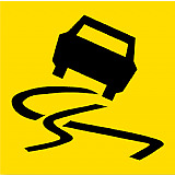 Temporary Traffic Signs -  SLIPPERY SURFACE